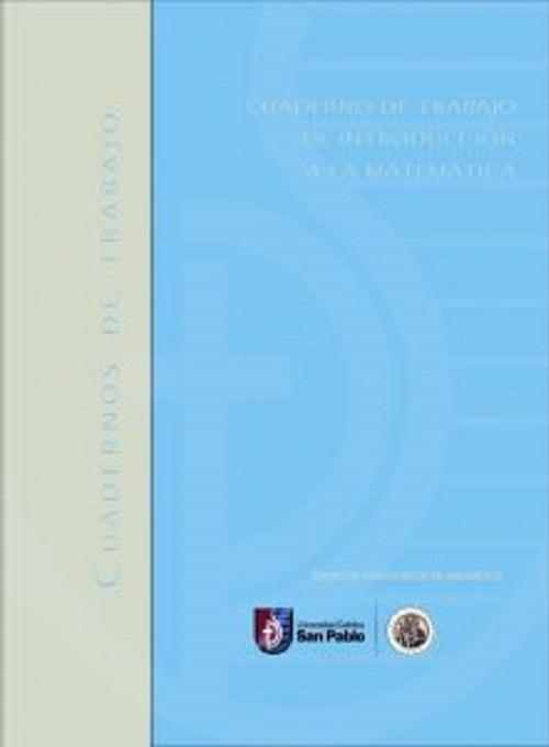 Cuaderno de trabajo de introducción a la Matemática