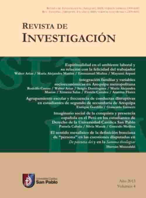 REVISTA DE INVESTIGACION
