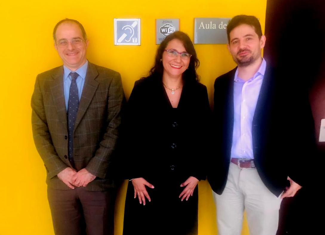 Dr. Patricia Castillo junto a investigadores de España