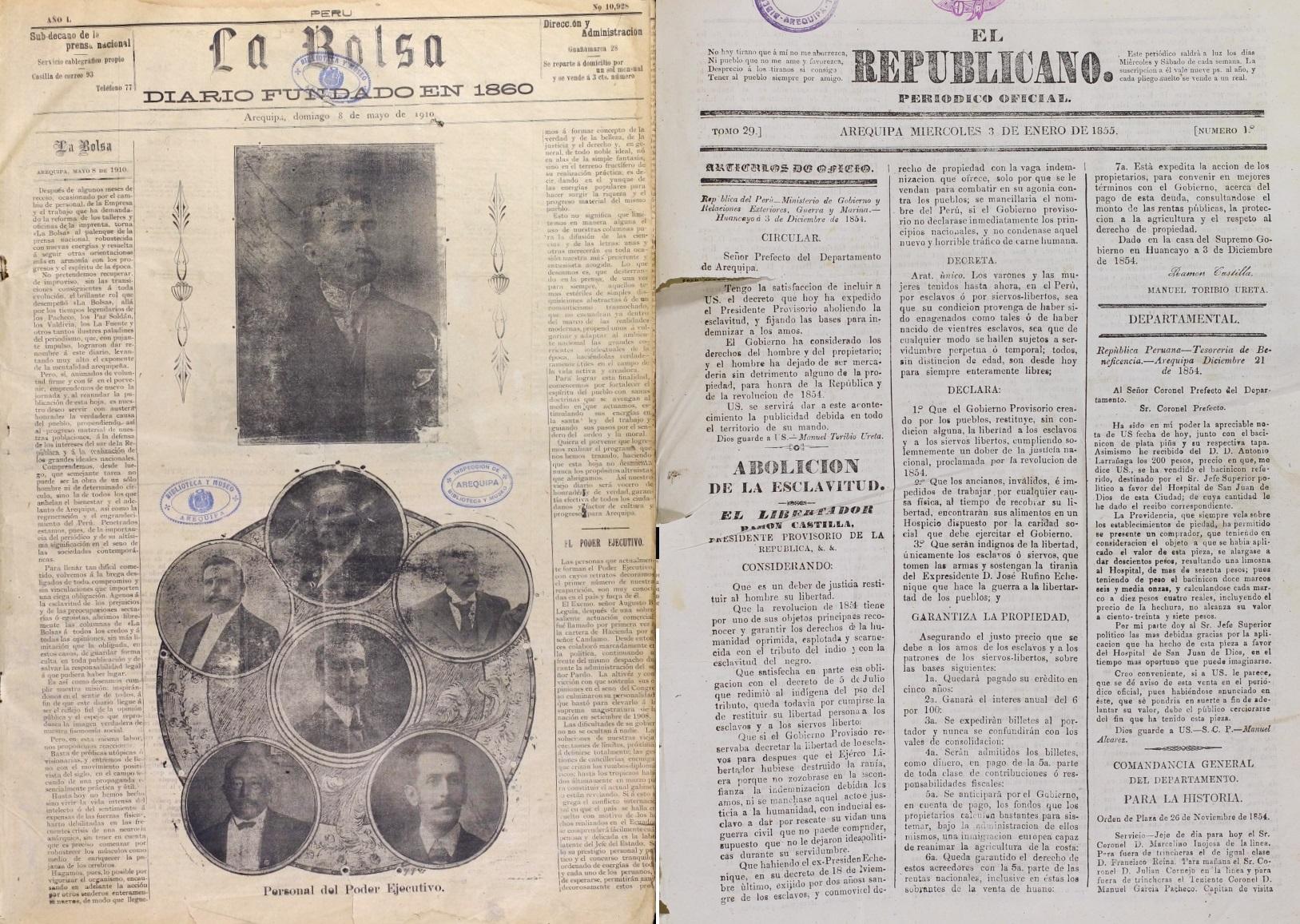 La digitalización de La Bolsa y El Republicano es el segundo proyecto de rescate del patrimonio documentario que realiza el Centro de Estudios Peruanos de la UCSP.