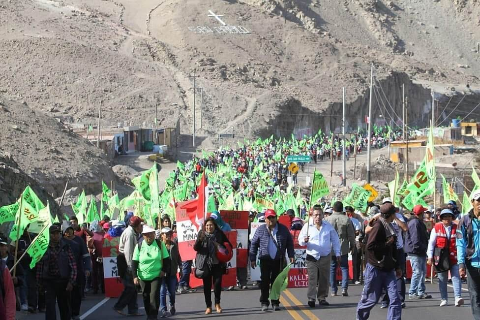 inician protestas contra proyecto tia maria