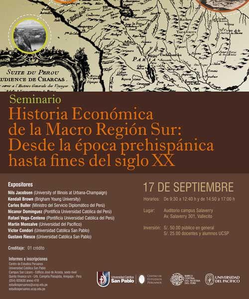 107. Seminario Historia económica de la macro región Sur 1