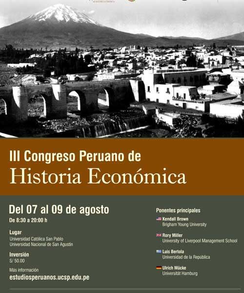 108. Afiche III Congreso peruano de Historia Económica 1
