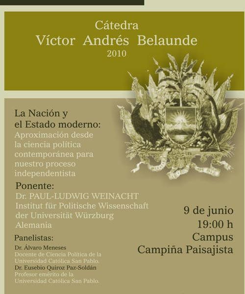 28. Afiche Cátedra Victor Andres Belaunde Junio 2010