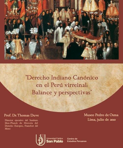 39. Afiche Derecho indiano Canónico en el Perú virreynal julio 2010