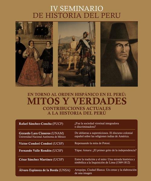 46. Afiche IV Seminario de Historia del Perú