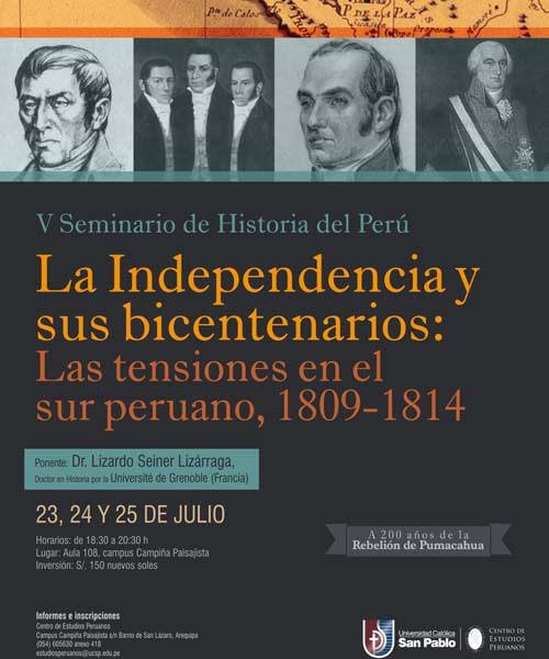 51. Afiche V Seminario de Historia del Perú julio 2014