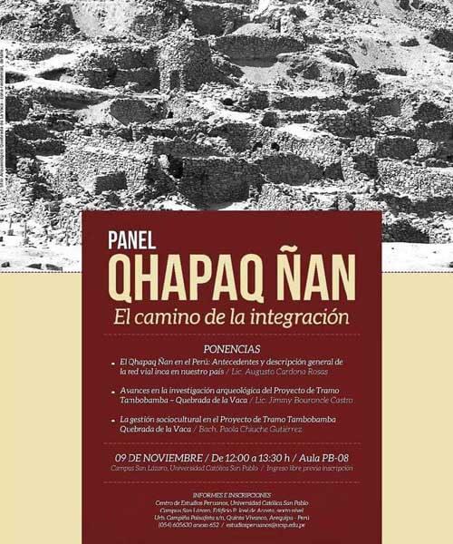 64. Afiche Proyecto Qhapaq Ñan El Camino de la Integración Noviembre 2017
