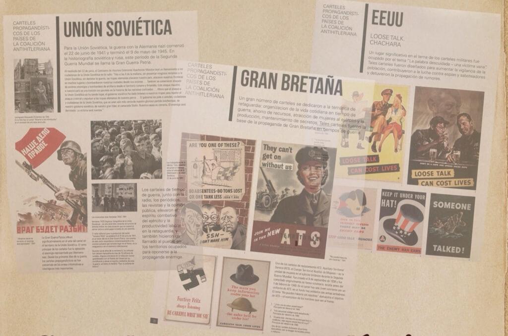 Muestra propaganda antihitleriana