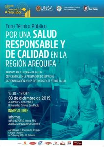 afiche mailing Foro Salud 11 11 19
