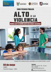afiche mailing apd altoalaviolencia