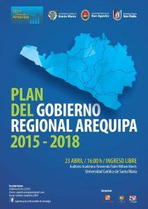 afiche mailing plan de gobierno region arequipa