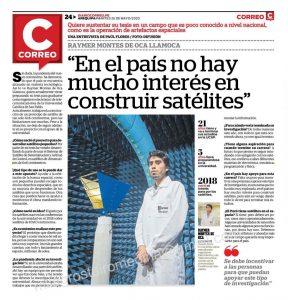 Entrevista Rayner Montes de Oca Correo