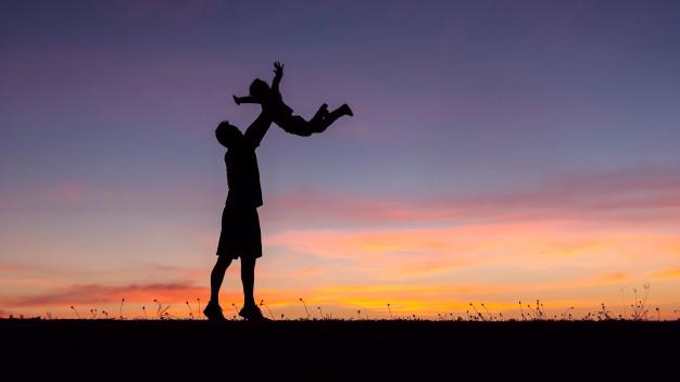 silueta familia feliz padre e hijo prado 38583 372