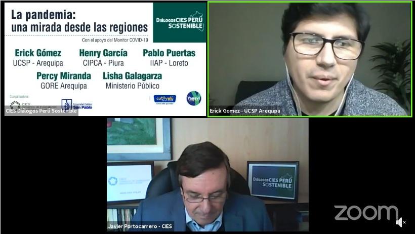 Dr. Erick Gómez Nieto en evento del CIES
