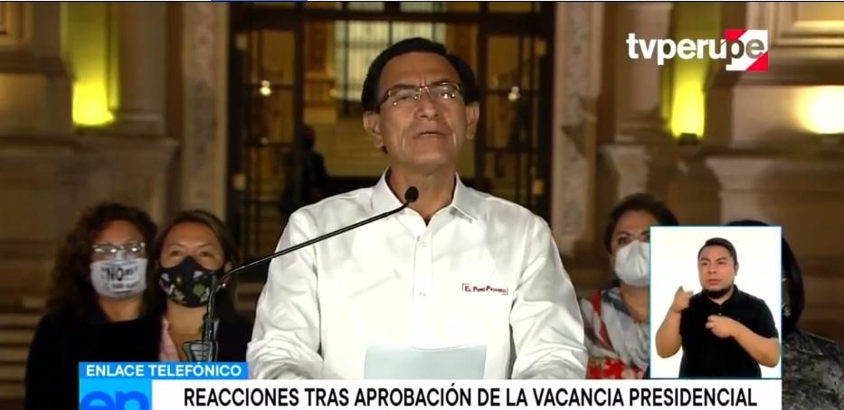 Presidente Vizcarra vacado