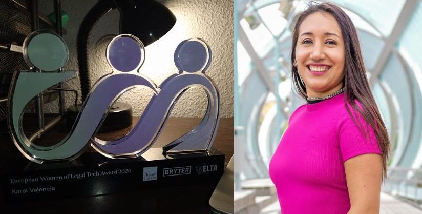 Karol Valencia y premio